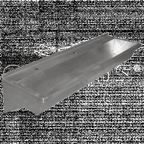 Раковина коллективная-1.6 м. антивандальная 3-025.1(L/R)