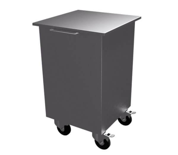 Бак для отходов с крышкой 400х600